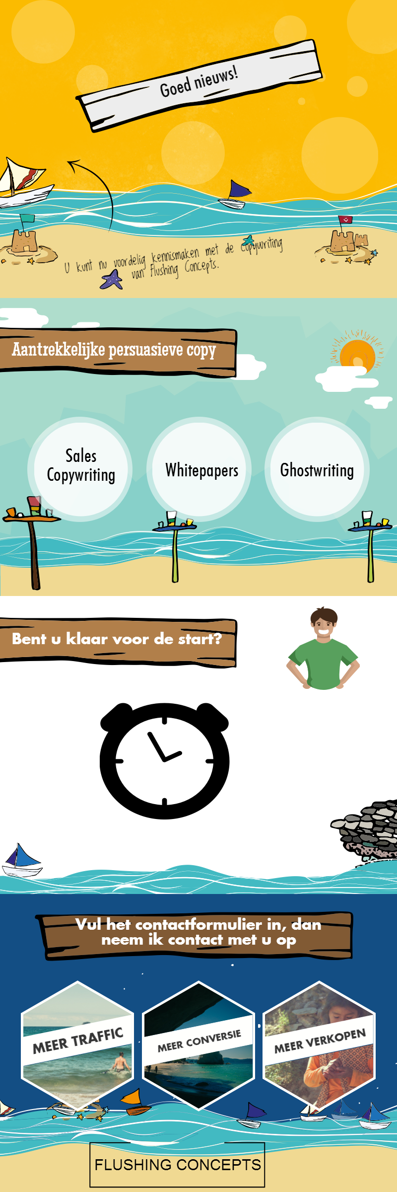 Infographic over sales copywriting en productkennis.