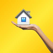 Huis op een hand, vastgoedmarkt.