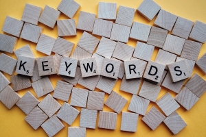 Keywords, scrabble woord.