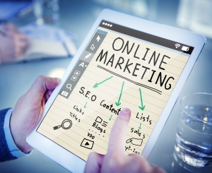 Online marketing, tablet