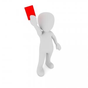 Rode kaart, penalty