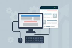 Webdesign, webpagina, desktop